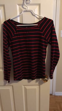 red and black striped long-sleeved shirt Guelph, N1L 1T4