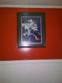 white and red flowers painting 796 mi
