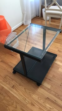 Glass and metal printer stand Potomac, 20854