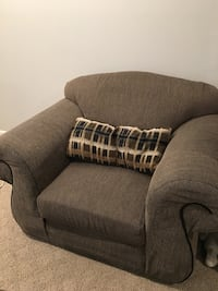 Gray fabric padded sofa chair Bowie, 20715
