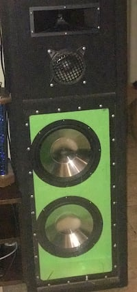 black and green subwoofer speaker Laredo, 78045