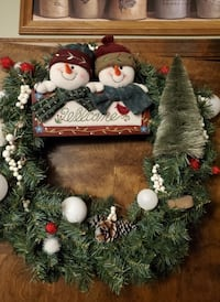 NEW snowman wreath..one of a kind Thurmont