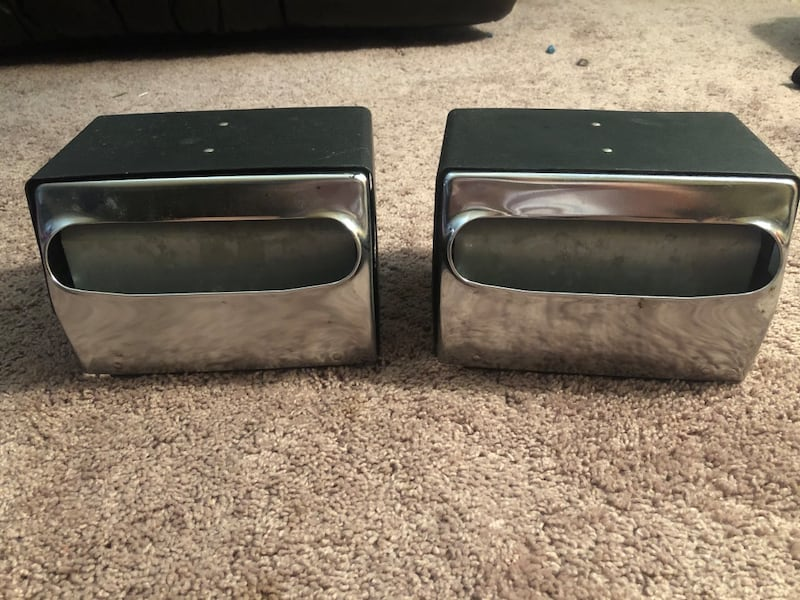 2 black & silver napkin dispensors 0
