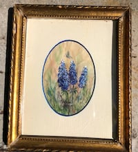 SMALL Watercolor of Hyacinths. 5  x 7 Fairfax, 22030