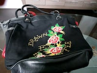 black and multicolored floral leather handbag 559 km