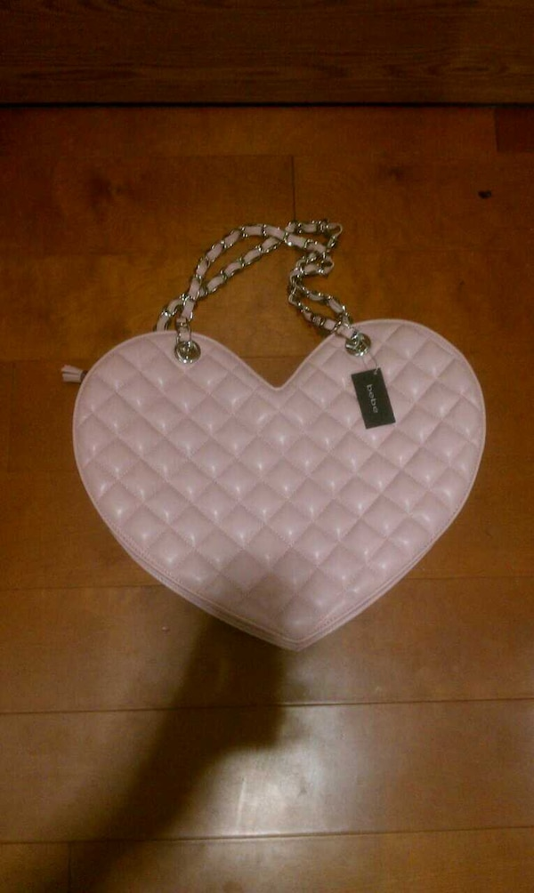 275615eff8d Pink Bebe Heart Purse In Los Angeles Letgo. Quilted Heart Tote ...