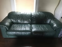 Genuine Leather Couch (Forest Green) Brockville, K6V 5B5