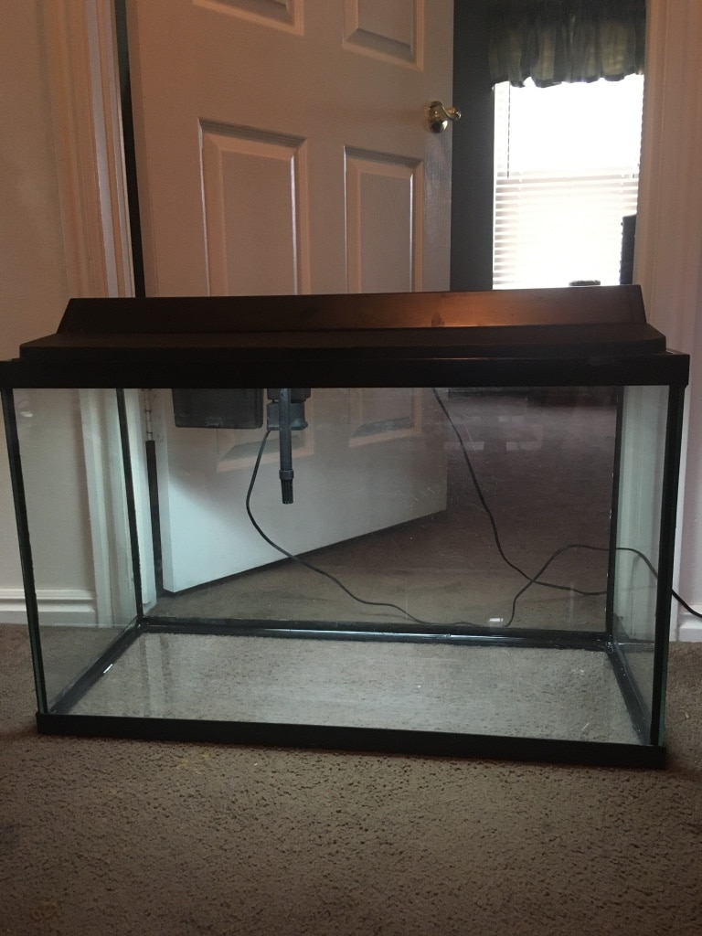 Photo 29 gallon fish tank with all you need to start a fresh water aquarium
