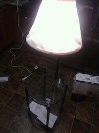 BRAND NEW end table w attached lamp