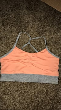 Brand new peach and grey sports bra size small Tucson, 85706