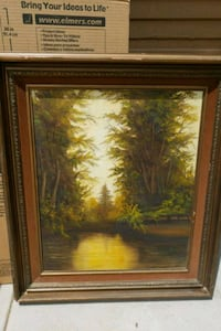 brown wooden framed painting of trees Corona, 92882