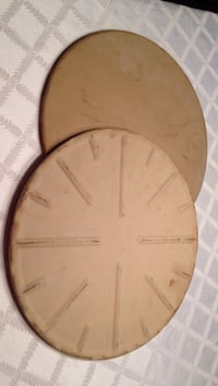 Two large Pampered Chef pizza stones.  $30.00 fort both. Price firm  West Middlesex, 16159