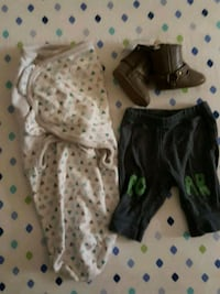 NB pants,boots and baby wrap