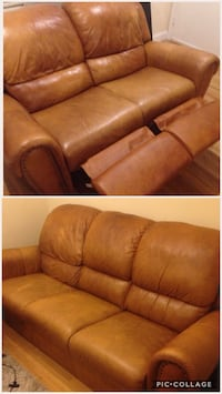 Set of brown leather couches Miami Beach, 33140