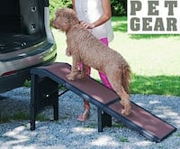 NEW PET GEAR EXTRA WIDE FOLDING FREE-STANDING PET RAMP WITH CARPET null