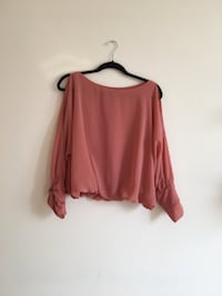 Coral Top with Open Shoulders Milan, 20136