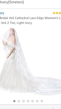 women's white wedding gown Washington, 20024