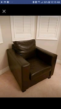 ESPRESSO LEATHER CLUB CHAIR  Mississauga