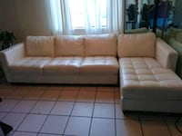 White leather sectional Albuquerque, 87108