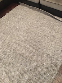 White and gray floral area rug 1365 mi