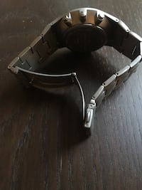 round silver chronograph watch with silver link bracelet London, W4 3BP