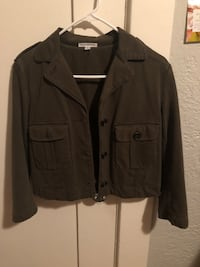 James Perse Dark Green Cropped Army Style Jacket Women's Size 3 San Diego, 92104