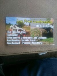 landacaping-tree removals & trimming - rock removal and installation- artificial grass El Paso
