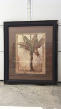brown wooden framed painting of flowers Greensboro, 27407