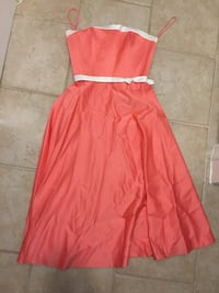 Salmon Pink and White Silky Classy Formal Country Club Dress Virginia Beach, 23452