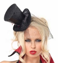 Mini top hat and Feather headpiece