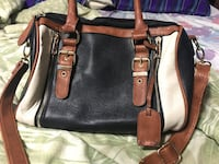 Black and brown leather 2-way handbag London, N6E 2B6