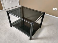 Smoked glass side table