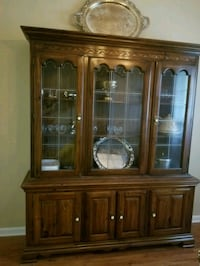 brown wooden framed glass china cabinet Athens, 30605