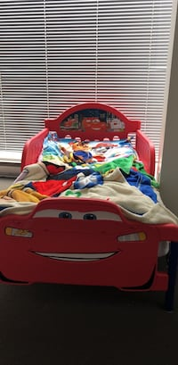 Red and blue disney cars themed bed Vancouver, V6B 1X2
