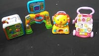 four yellow, pink and green plastic learning toys Oxford, 06478