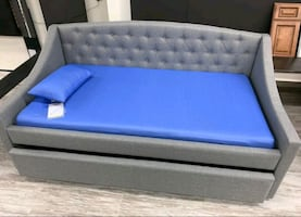 Brand New Gray Color Twin/Twin Daybed with Trundle