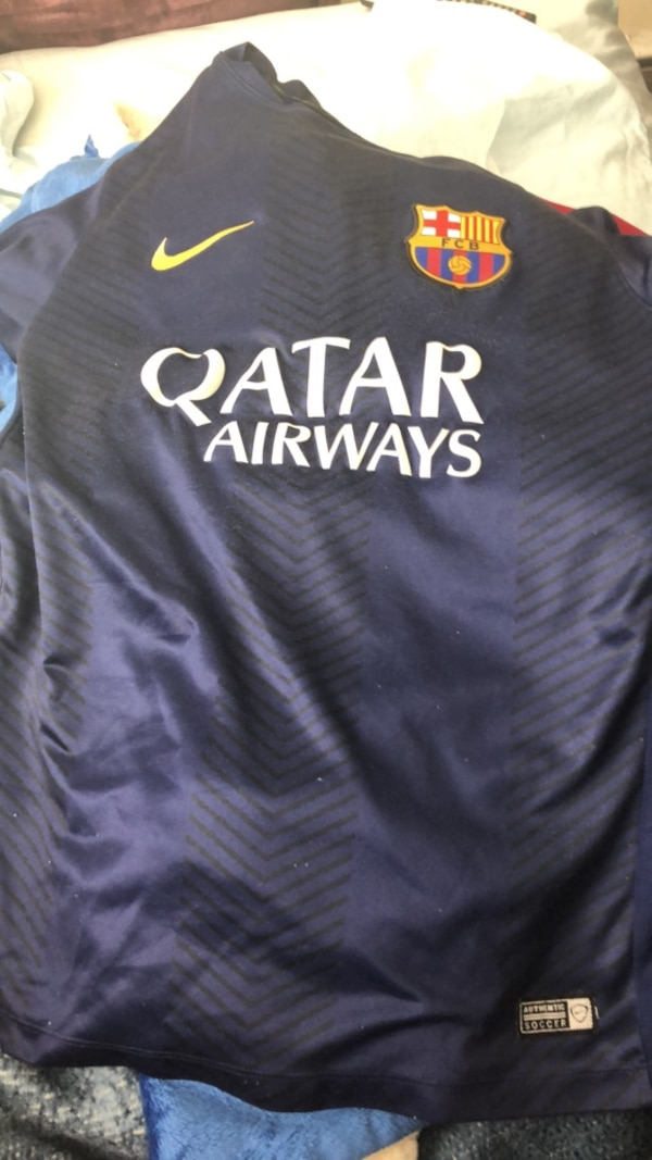 979905ec624 Used FCB Barcelona Qatar Airways Soccer Jersey for sale in New London -  letgo