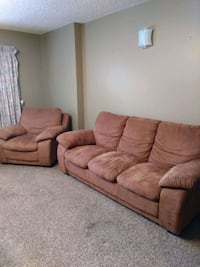 brown suede 3-seat sofa & arm chair Kelowna, V1Y 3E1