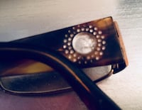 VERSACE Tortoiseshell Reading Glasses with CRYSTAL Detail And CASE• $20 FIRM! Winnipeg