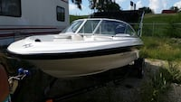 White and blue speed boat Hutto, 78634
