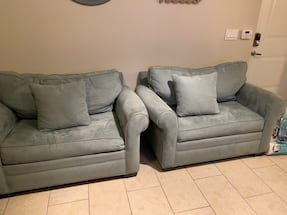 2 Light Blue Twin Sized Sofabeds