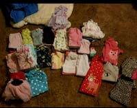 68 pieces of baby girl clothes NB to 18m Sumter
