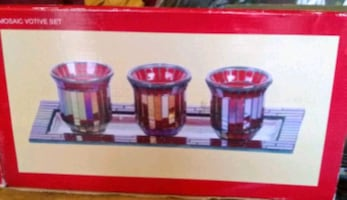 brand new candle holder set