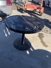 Patio metal table