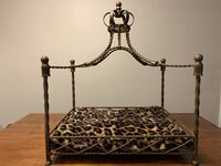 Royal Jeweled Crown Wrought Iron Pet Bed Canopy $125 Metal RET $375