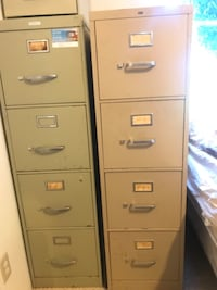 2 metal 4-drawer file cabinets Saratoga, 95070