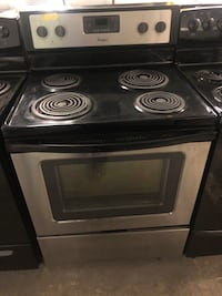 Whirlpool stainless steel coils electric stove  Baltimore, 21223