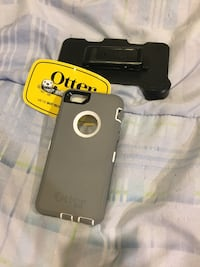 Iphone 6/6s white/grey otterbox defender