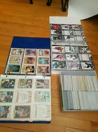Sports cards hockey and baseball