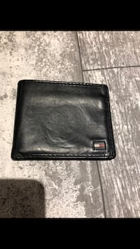 Men's Tommy Hilfiger black leather wallet 20$ firm  Le Gardeur, J5Z 3W6